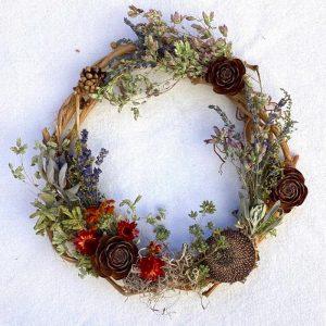 Herbal harvest wreath